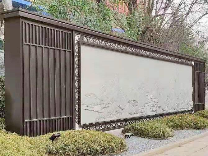 园林景观金属廊架景墙